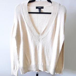 BOGO Free Forever 21 oversized v-neck cream sweater